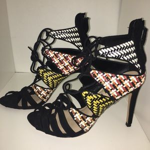 Woven Ankle boot Sandal High Heel Zara Collection